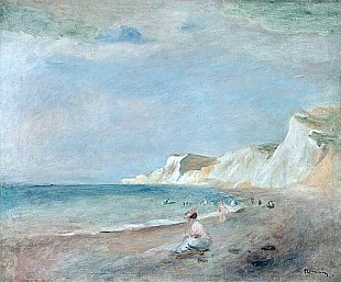 Pierre-Auguste Renoir - The Beach at Varangeville
