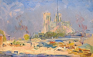 Albert-Charles Lebourg - Quai de la Tournelle and Notre-Dame de Paris