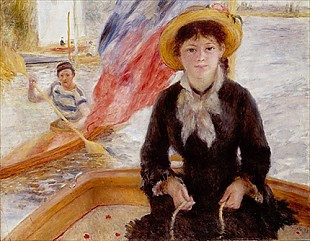 Pierre-Auguste Renoir - Woman in Boat with Canoeist