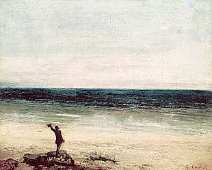 Gustave Courbet - The Artist on the Seashore at Palavan