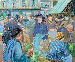 Camille Pissarro - The Market at Gisons