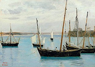 Jean Baptiste Camille Corot - Granville, Fishing Boats