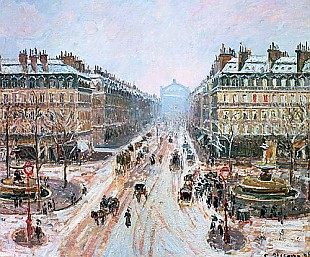 Camille Pissarro - Avenue de l'Opera - Effect of Snow