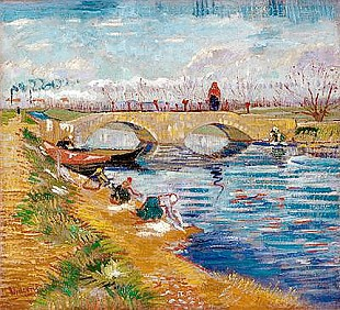 Vincent van Gogh - The Gleize Bridge over the Vigneyret Canal