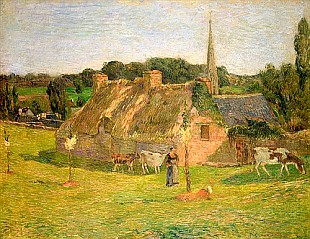 Paul Gauguin - Lollichon's Field and the Church of Pont-Aven