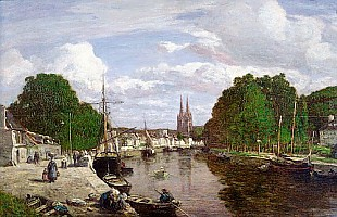 Eugéne Boudin - The Port at Quimper
