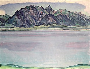 Ferdinand Hodler - Thunersee with the Stockhorn Mountains