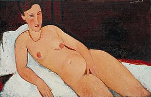 Amadeo Modigliani - Nude with Coral Necklace