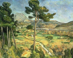 Paul Cézanne - Landscape with viaduct: Montagne Sainte-Victoire