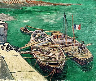 Vincent van Gogh - Landing Stage with Boats