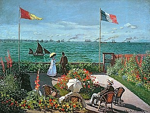 Claude Monet - Terrace at the coast of Saint-Adresse