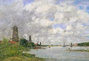 Eugéne Boudin - The River Meuse at Dordrecht