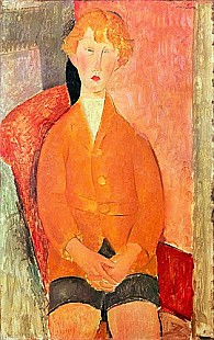 Amadeo Modigliani - Boy in Shorts