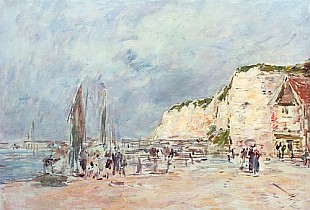 Eugéne Boudin - The Cliffs at Dieppe and the 'Petit Paris'