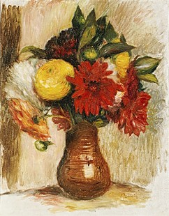Pierre-Auguste Renoir - Bouquet of Flowers in a Stone Jug
