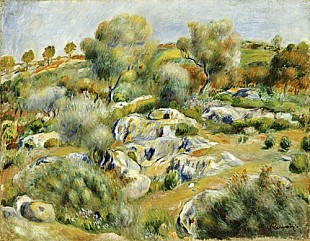 Pierre-Auguste Renoir - Brittany Landscape with Trees and Rocks