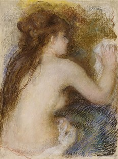 Pierre-Auguste Renoir - Rear view of a nude woman