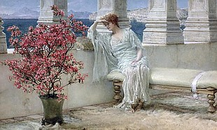 Sir Lawrence Alma-Tadema - 'Her eyes are with her thoughts and they are far away', 1897