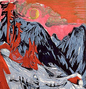 Ernst Ludwig Kirchner - Mountains in Winter