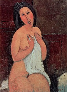 Amadeo Modigliani - Seated Nude with a Shirt