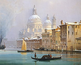Ippolito Caffi - Venice Covered in Snow