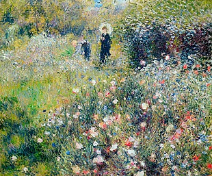 Pierre-Auguste Renoir - Lady with umbrella in garden