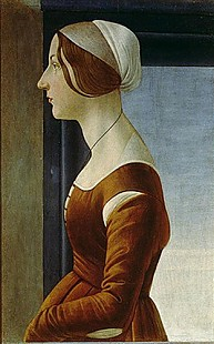 Sandro Botticelli - Painting of a lady with a cap