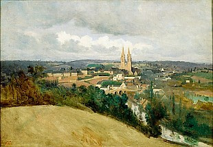 Jean Baptiste Camille Corot - View of the Town of Saint-Lo
