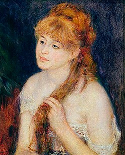 Pierre-Auguste Renoir - Young Woman Braiding her Hair