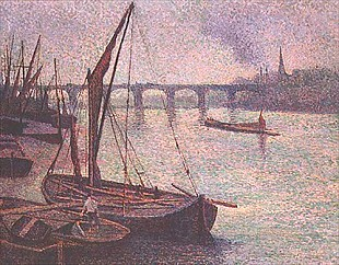 Maximilien Luce - The Thames at Vauxhall Bridge, London