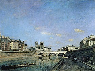 Johan Barthold Jongkind - Seine and Notre Dame in Paris