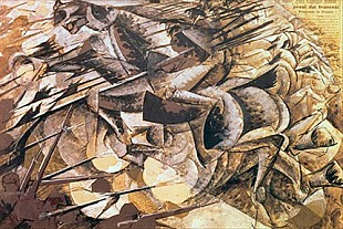 Umberto Boccioni - The Charge of the Lancers
