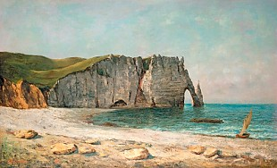 Gustave Courbet - The Sea-Arch at Etretat