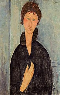 Amadeo Modigliani - Woman with Blue Eyes