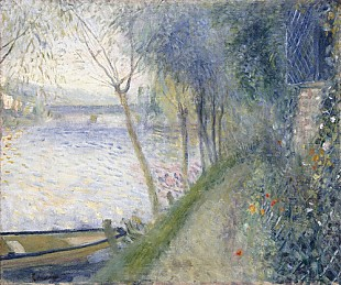 Pierre-Auguste Renoir - Landscape at the Edge of the Seine with the Pont d'Argenteuil