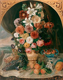 Carl August Reinhardt - Still life with flowers