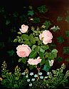 Still life of roses and wise flowers