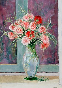 Emil Orlik - Carnations in a glass