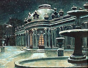 Max Klinger - Winter night in Sanssouci