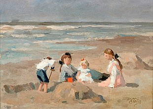 Isaak Israels - Children at the beach