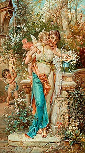 Hans Zatzka - Young love