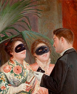 Frederigo Zandomeneghi - Flirtation at masked ball