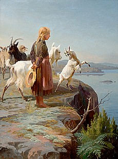 Adolf Mackeprang - The young goats keeper