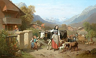 Ferdinand Marohn - Collecting animals to push to the mountains