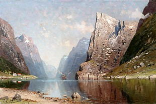 E. Grüttefien - Summer day at the fjord
