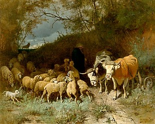 Otto Gebler - Sheep herd frightened