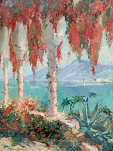 Gustave Flasschoen - Cap Ferrat at the Côte d'Azur