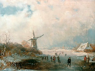 Elias van Bommel - Ice runner on frozen up Dutch river mouths