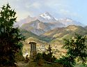 View onto Berchtesgaden and the Watzmann