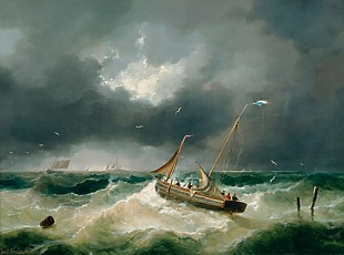 Louis Verboeckhoven - Surprises by the storm